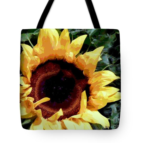 Facing The Sun Tote Bag by Sally Simon