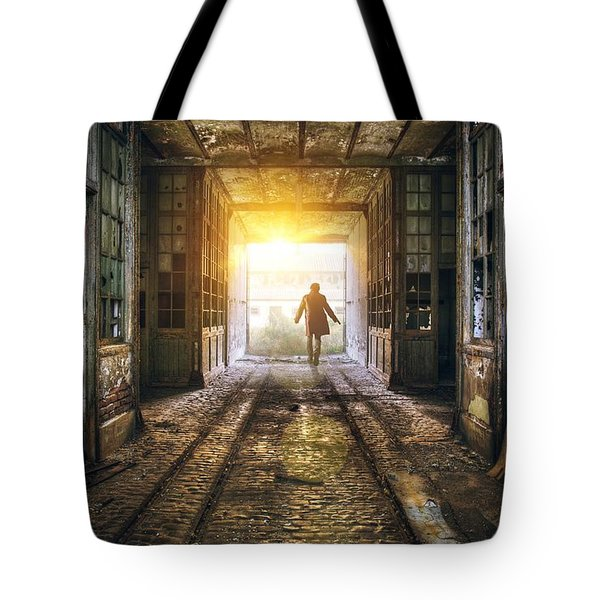 Factory Chase Tote Bag by Carlos Caetano