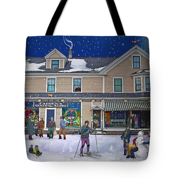 Faddens General Store In North Woodstock Nh Tote Bag by Nancy Griswold