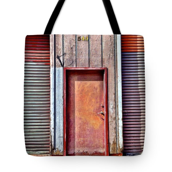 Faded Door Tote Bag