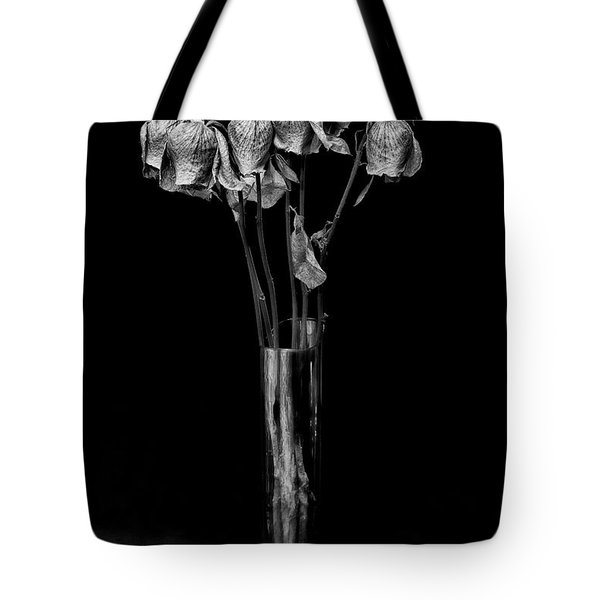 Faded Long Stems - Bw Tote Bag