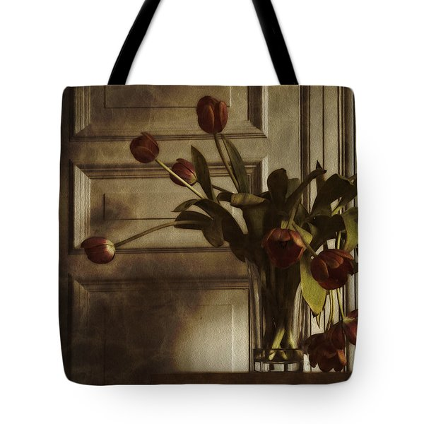 Tote Bag featuring the photograph Faded Tulips by Inge Riis McDonald