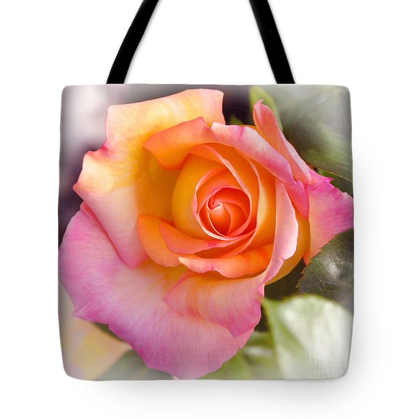 Tote Bag featuring the photograph Faded Verigated Rose by Debby Pueschel