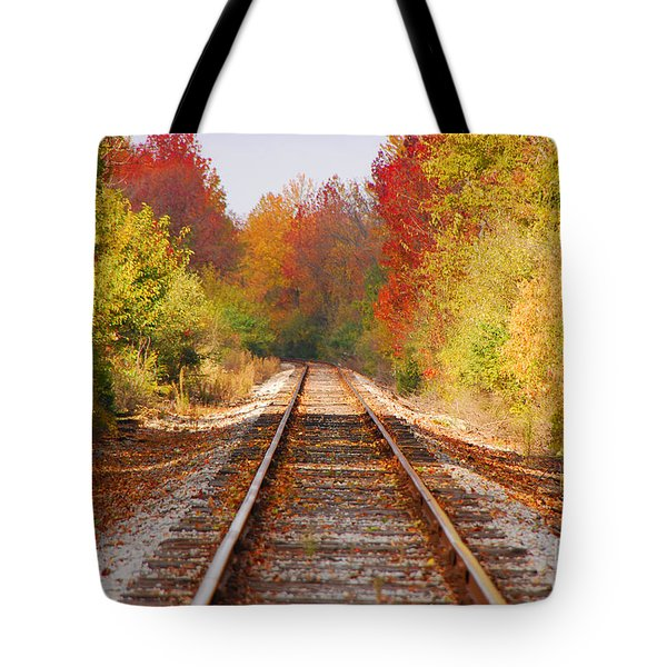 Fading Tracks Tote Bag by Mary Carol Story
