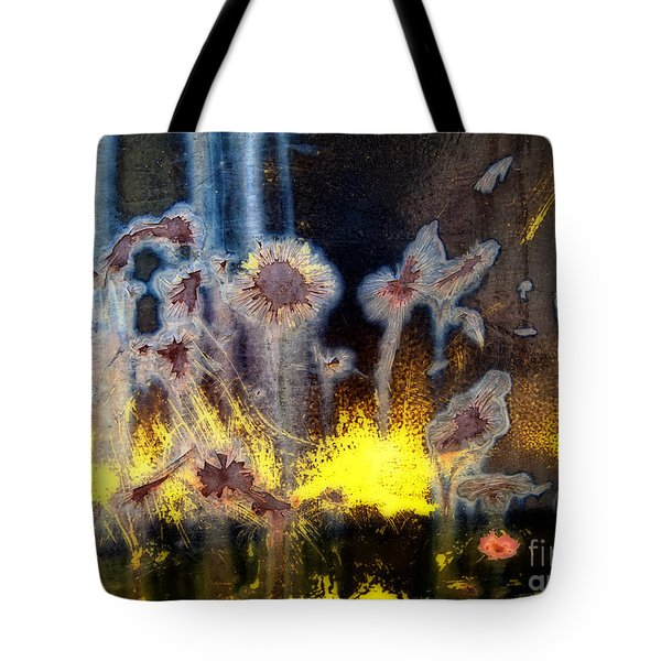 Fae And Fireworks Abstract Tote Bag by Lee Craig