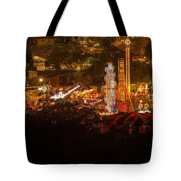 Fair Time In Paso Robles Tote Bag by Tim Bryan