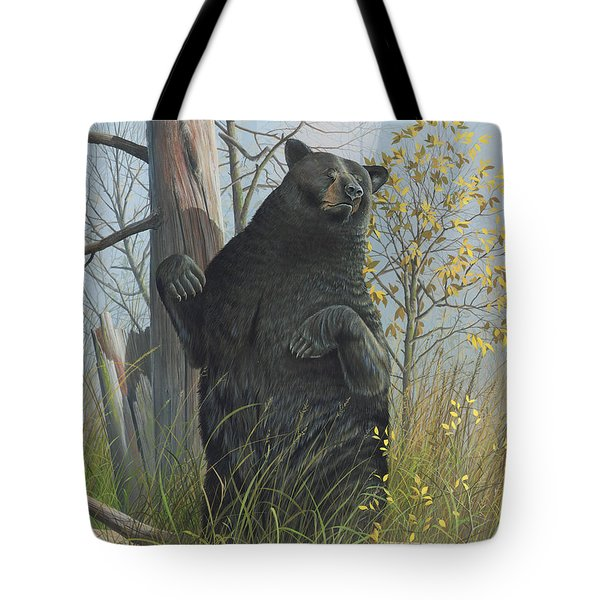 Tote Bag featuring the painting Fair Warning by Mike Brown