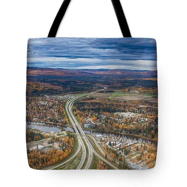 Tote Bag featuring the photograph Fairbanks Alaska The George Parks Highway by Michael Rogers