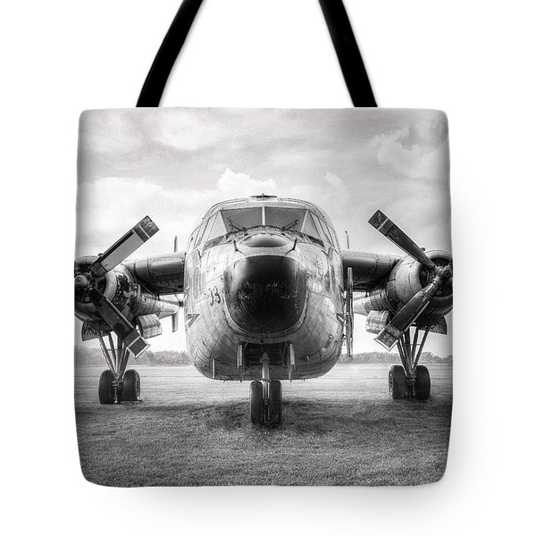 Tote Bag featuring the photograph Fairchild C-119 Flying Boxcar - Military Transport by Gary Heller