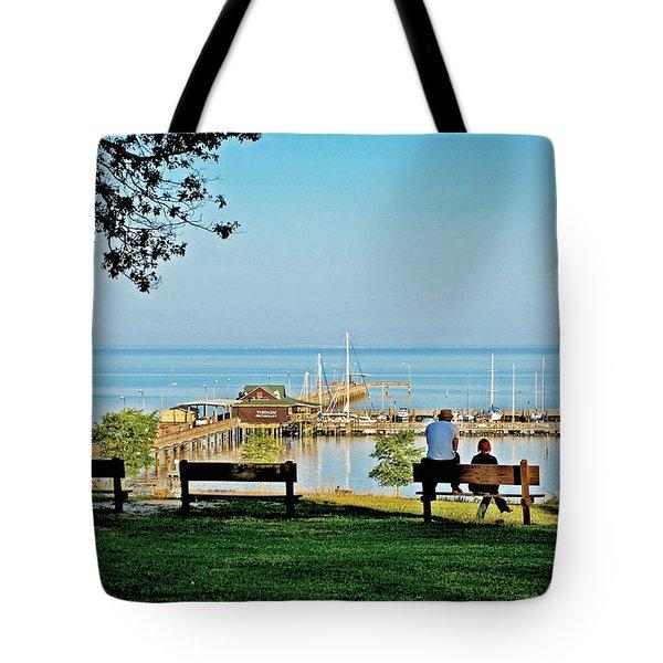 Fairhope Alabama Pier Tote Bag by Michael Thomas