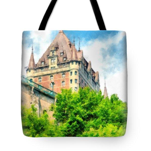 Fairmont Le Chateau Frontenac Tote Bag