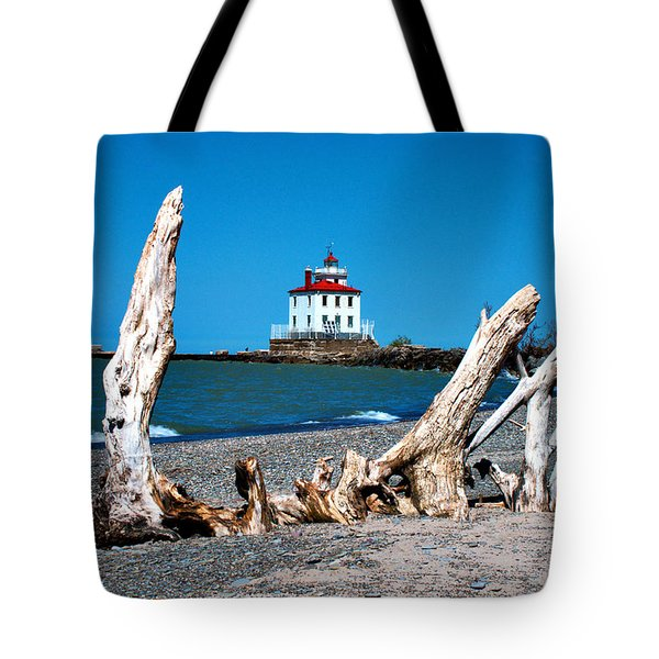 Tote Bag featuring the photograph Fairport Harbor Lighthouse 2 by Michelle Joseph-Long