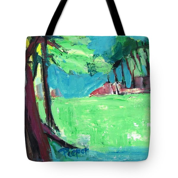 Fairway In Early Spring Tote Bag