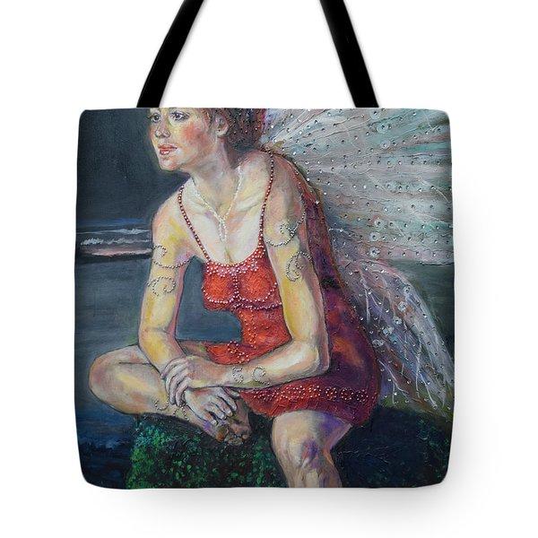 Fairy On A Stone Tote Bag