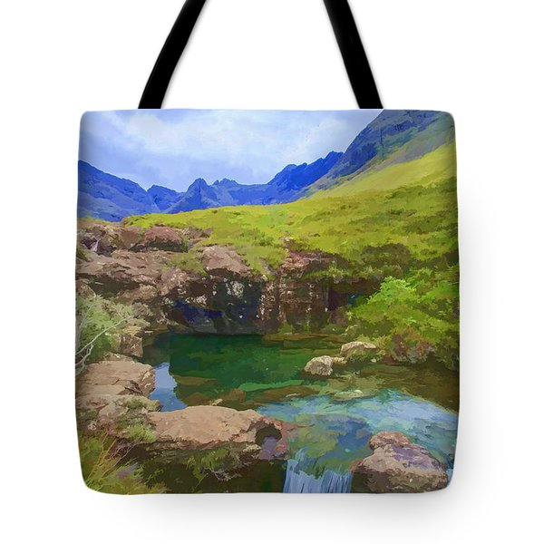 Fairy Pools Of Skye Watercolour Tote Bag