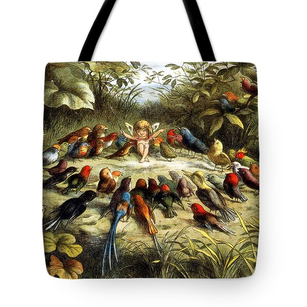 Fairy Rehearsal Tote Bag by Photo Researchers