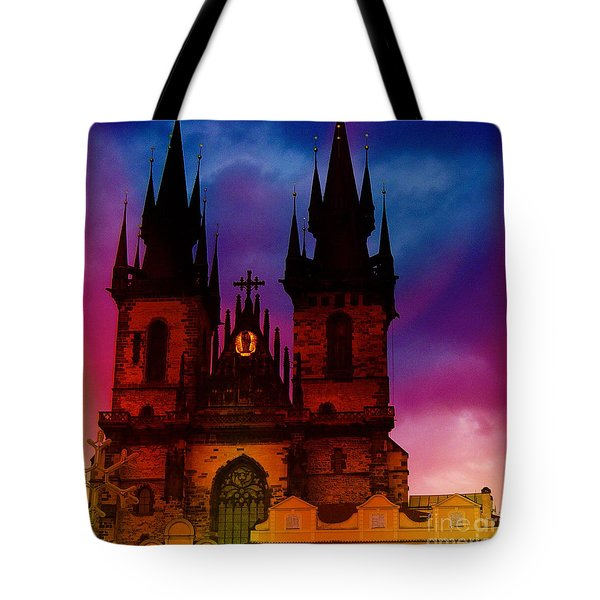 Fairy Tale Castle Prague Tote Bag