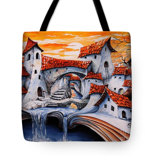 Fairy Tale City - Magic Stream Tote Bag by Emerico Imre Toth