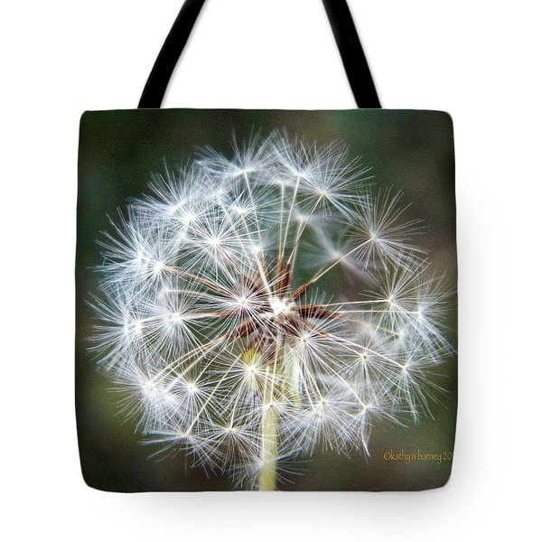 Tote Bag featuring the photograph Fairy Umbrellas by Kathy Barney
