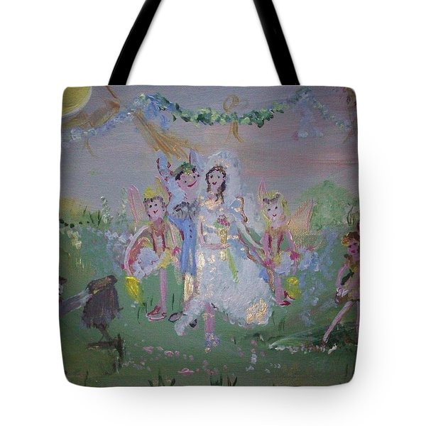 Fairy Wedding Tote Bag by Judith Desrosiers