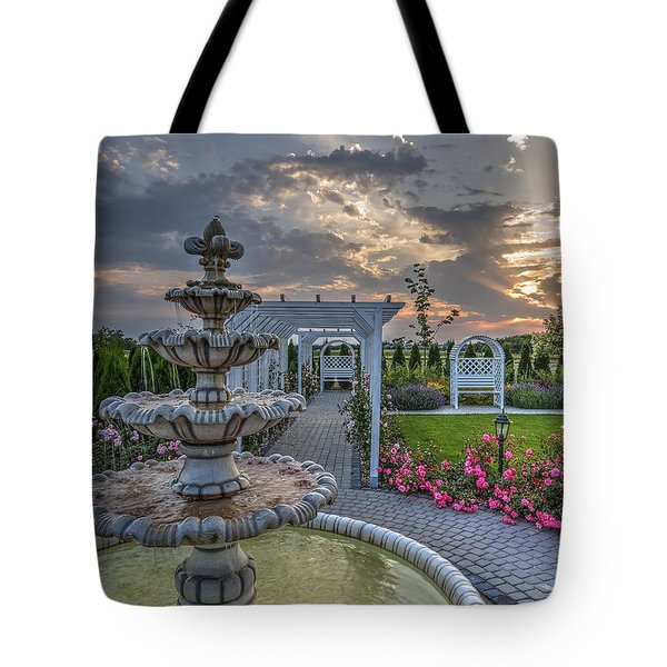 Tote Bag featuring the photograph Fairytale Garden by Julis Simo