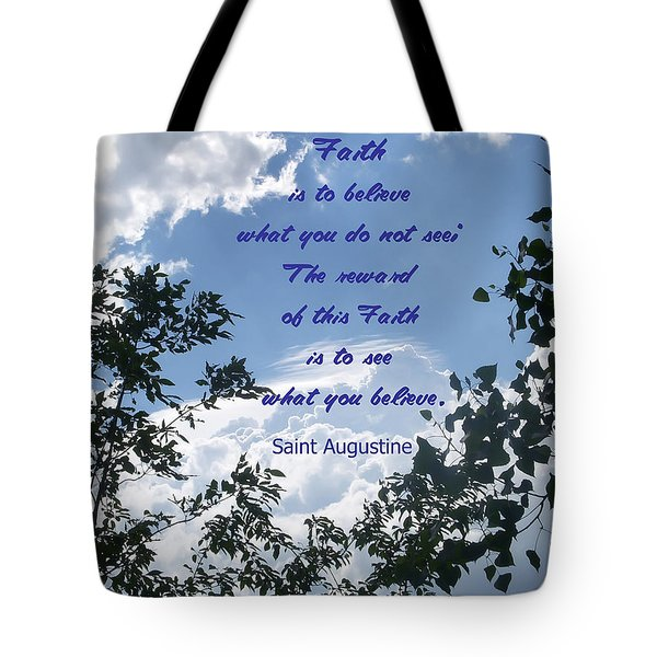 Faith Tote Bag by Aimee L Maher Photography and Art Visit ALMGallerydotcom
