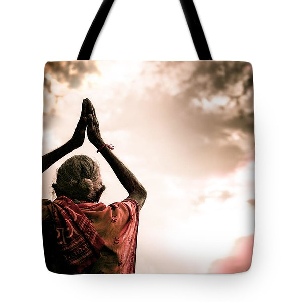 Faith And Prayers For Peace Tote Bag by Nila Newsom