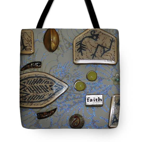 Faith Collage Tote Bag