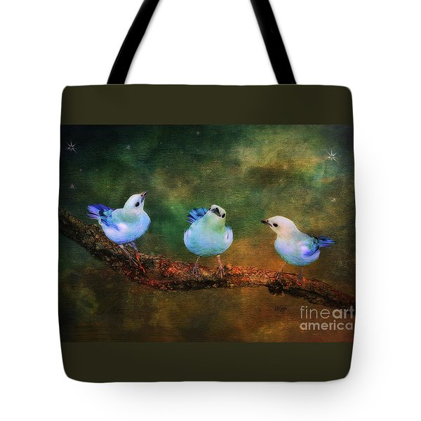 Faith Hope And Charity Tote Bag by Lois Bryan