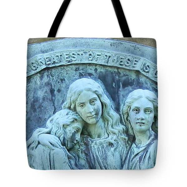 Tote Bag featuring the photograph Faith Hope Charity by Kathy Barney