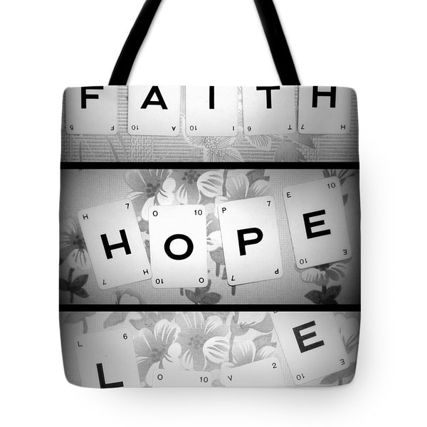 Faith Hope Love Tote Bag by Georgia Fowler