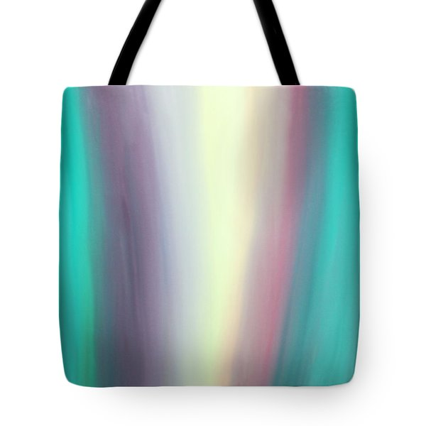Tote Bag featuring the painting Flowing by Karen Nicholson