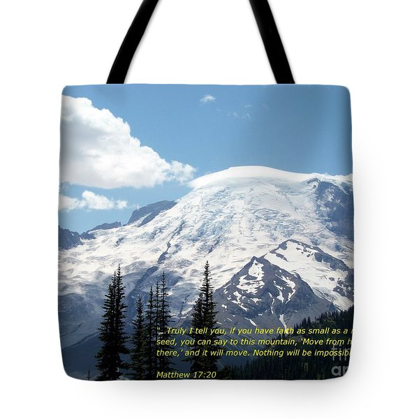 Faith Of A Mustard Seed Tote Bag