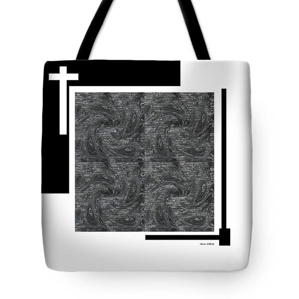 Tote Bag featuring the digital art Faith by Ann Calvo