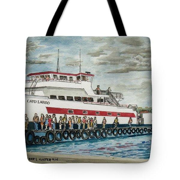 Fajardo Ferry From Vieques Puerto Rico Tote Bag