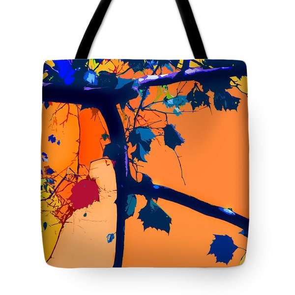 Fall Abstraction 5-2013 Tote Bag by John Lautermilch