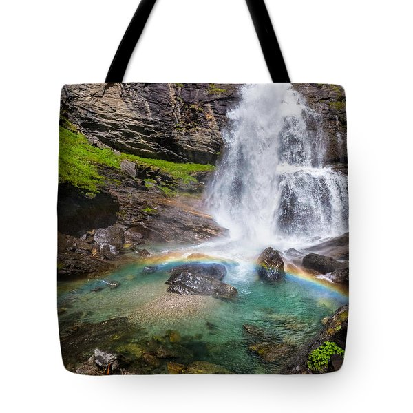 Fall And Rainbow Tote Bag by Silvia Ganora