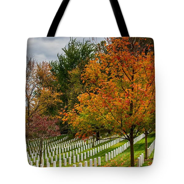 Fall Arlington National Cemetery  Tote Bag by Gary Whitton