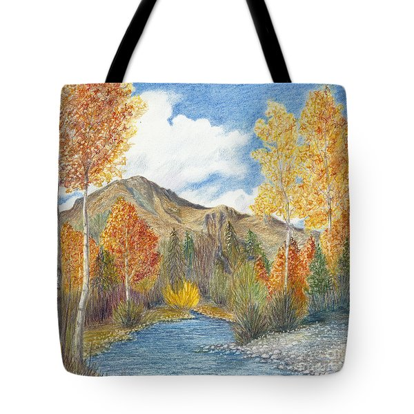 Tote Bag featuring the painting Fall Aspens by Phyllis Howard