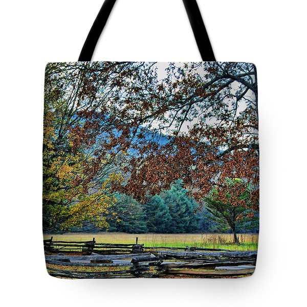 Tote Bag featuring the photograph Fall At Cades Cove by Kenny Francis