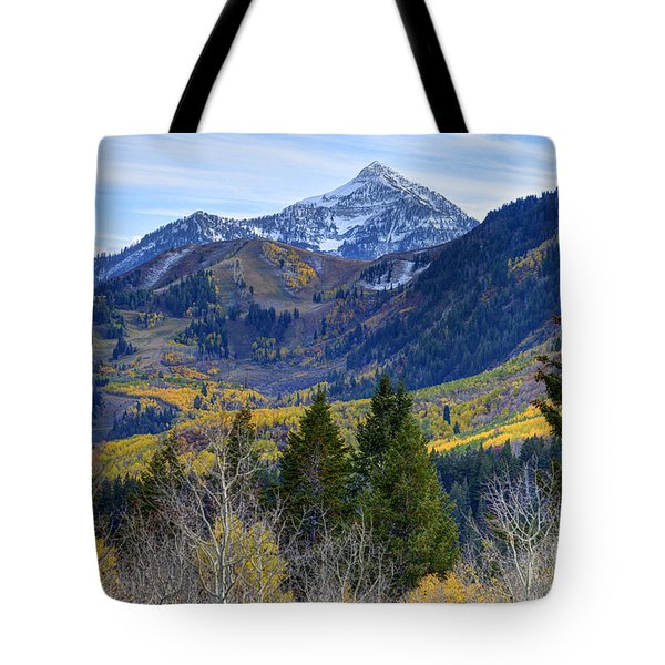 Fall At Cascade Peak And Sundance From Alpine Loop  Tote Bag