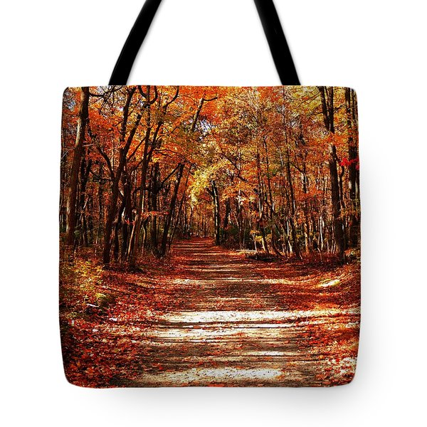 Tote Bag featuring the photograph Fall At Cheesequake by Raymond Salani III