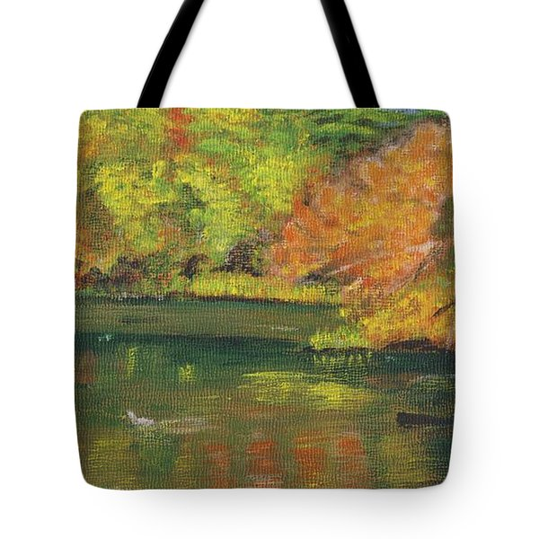 Fall At Dorrs Pond Tote Bag
