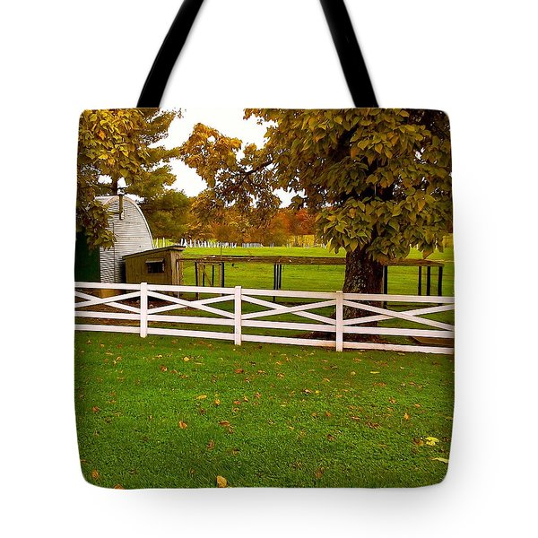 Fall At Eisenhower Farm Tote Bag