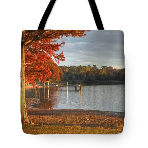Fall At Georgia Lake Tote Bag