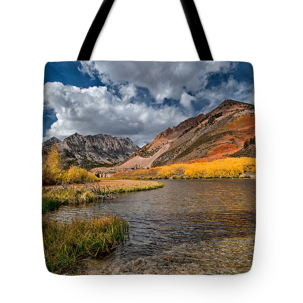 Fall At North Lake Tote Bag by Cat Connor
