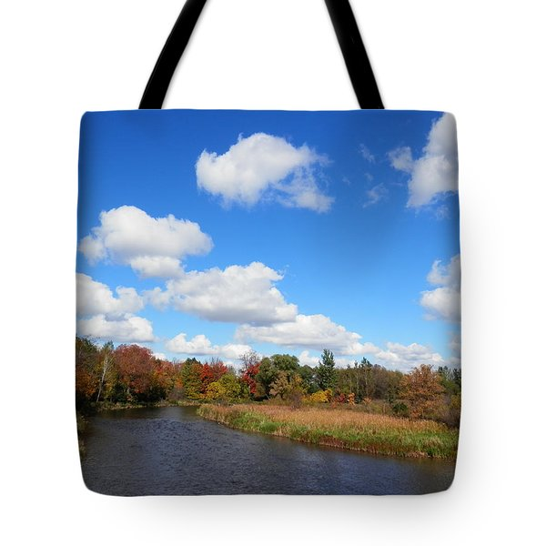Fall At The Credit River Tote Bag by Pema Hou