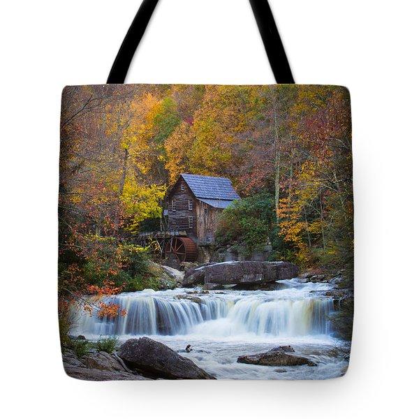Mill At Babcock State Park Tote Bag