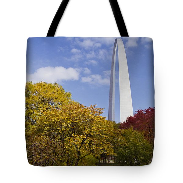 Fall At The St Louis Arch Tote Bag