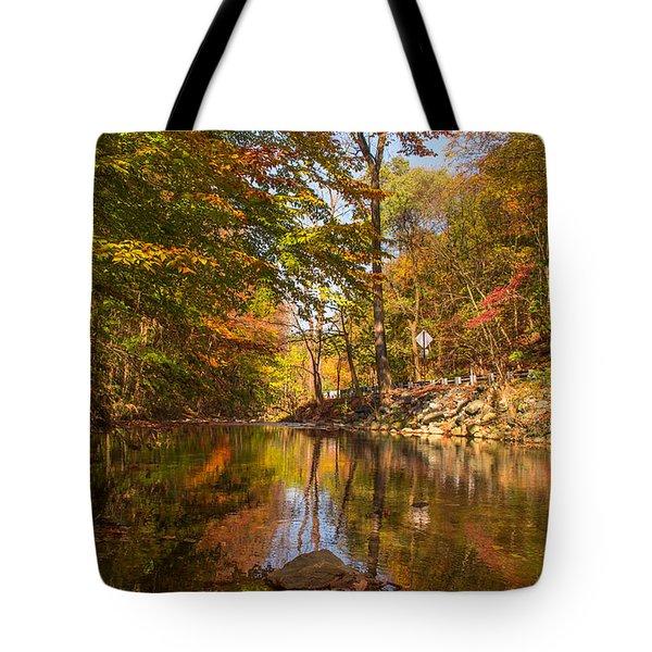 Fall At Valley Creek  Tote Bag